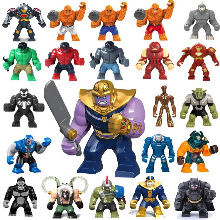 AliExpress - New Big Decool Thanos Large Anti Venom Riot Carnage Green Lantern Hulk Buster Goblin Thing Building Block Figures Toy For Kids
