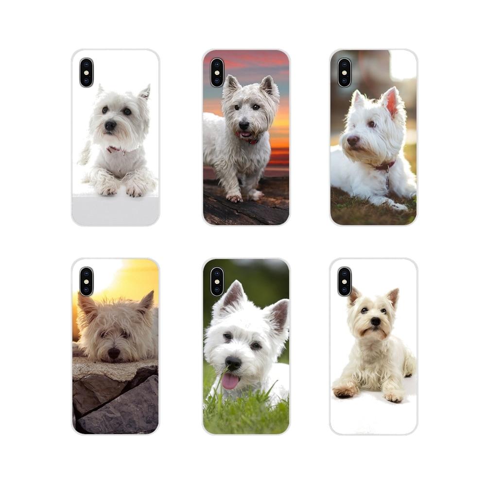 Terrier Westie accesorios para perros fundas de teléfono para Xiaomi Redmi Note 3 4 5 6 7 8 Pro Mi Max Mix 2 3 2S pocofone F1