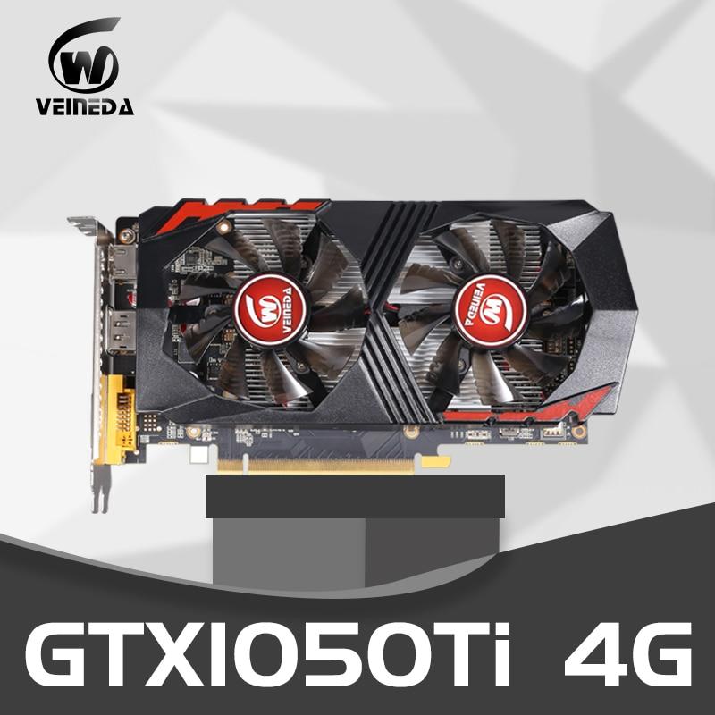 Video Card GTX1050Ti for Computer Graphic Card PCI-E GTX1050Ti GPU 4G 128Bit DDR5 for nVIDIA Geforce