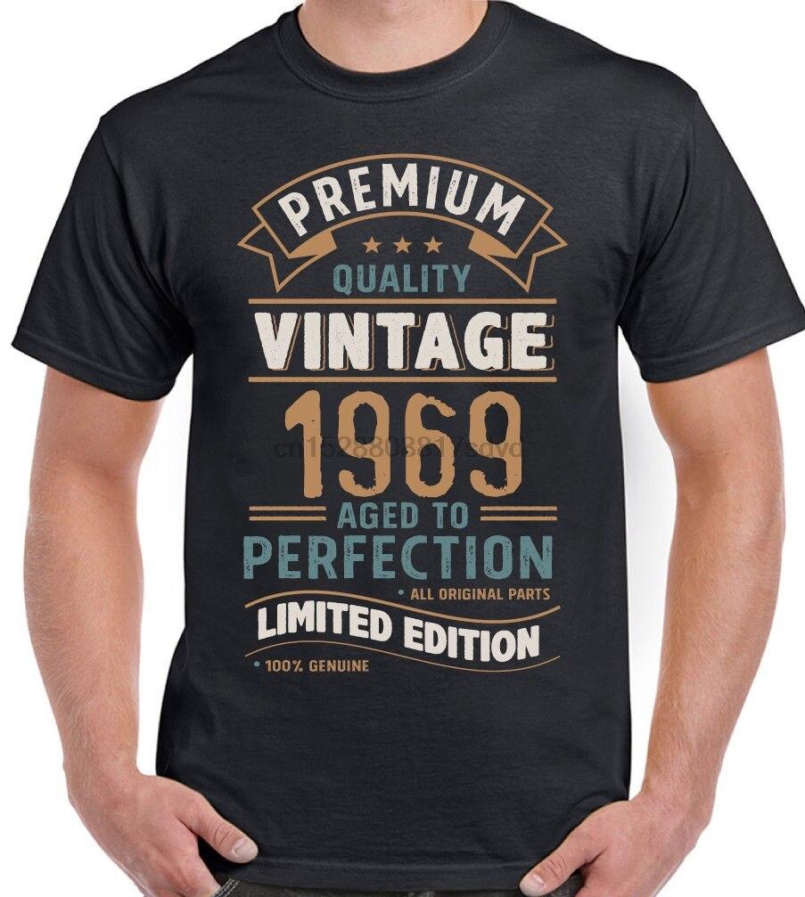 Verano cuello redondo algodón vintage año 1969-Edición Limitada 50 cumpleaños hombres divertida camiseta 50 años de edad