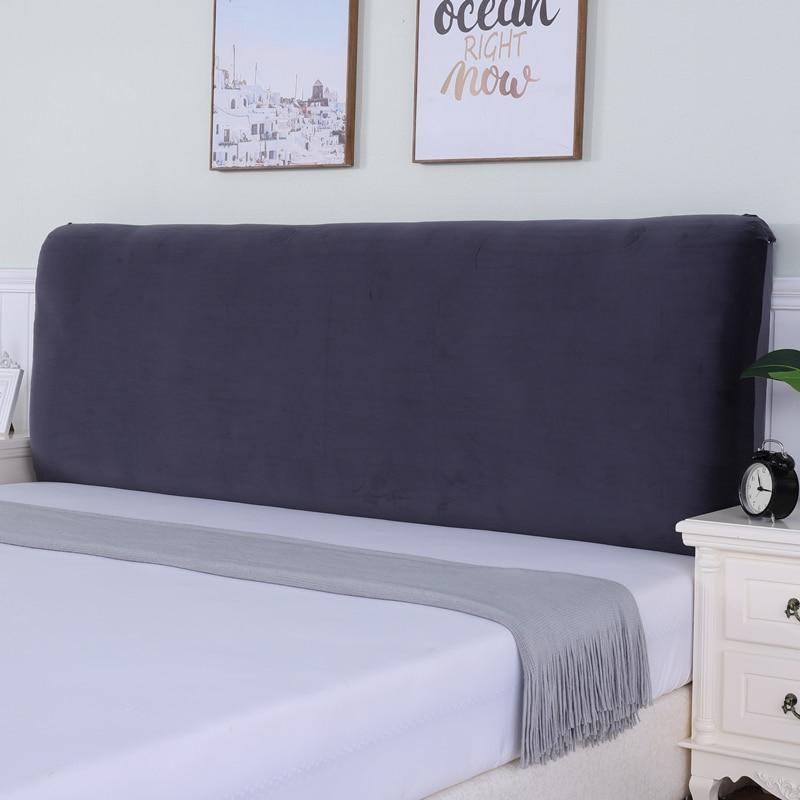 النمط الأوروبي غطاء سرير مخملي بلون كامل مغلق مطاطا الغبار واقية غطاء رأس السرير/الغطاء الواقي