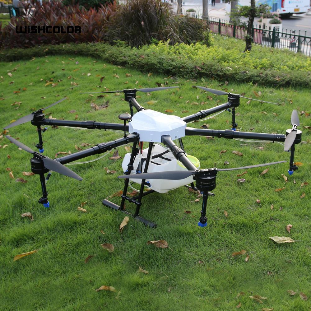 طائرة بدون طيار زراعية ذات 6 محاور 1600 مللي متر ، طائرة بدون طيار زراعية بدون طيار ذات 6 محاور سعة 16 كجم ، خزان سعة 15 لترًا للاستخدام الزراعي