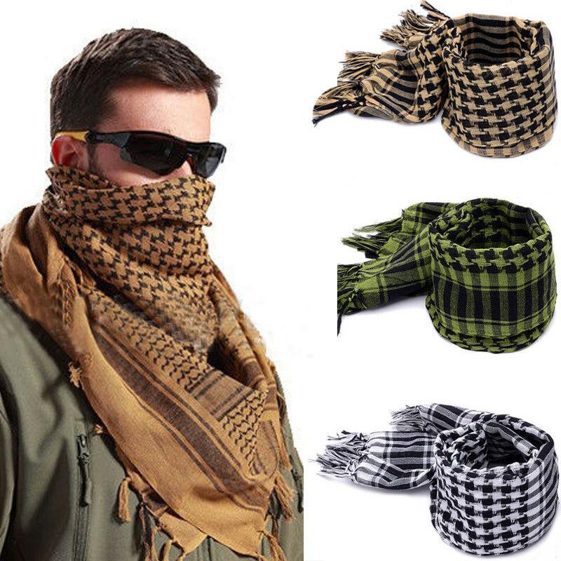 Модные мужские легкие квадратные уличные шали военные Арабские тактические дезерты армия шемаг кеффие арафат шарф мода
