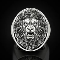 new hot lion head ring stainless steel cool boy band party lion ring domineering mens ring golden lion head ring unisex jewelry