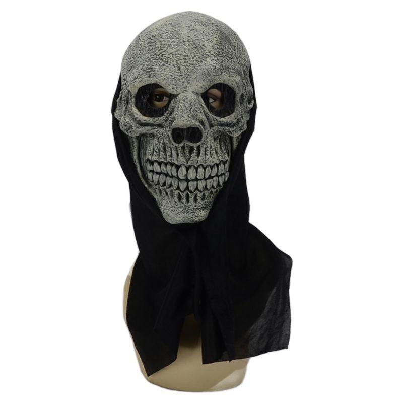 Máscara realista de Calavera, esqueleto, fantasma, cara completa, disfraz de Cosplay Q6PB