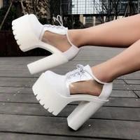 european and american transparent nightclub dj bar ds performance shoes 15cm thick heel super high heel platform womens shoes
