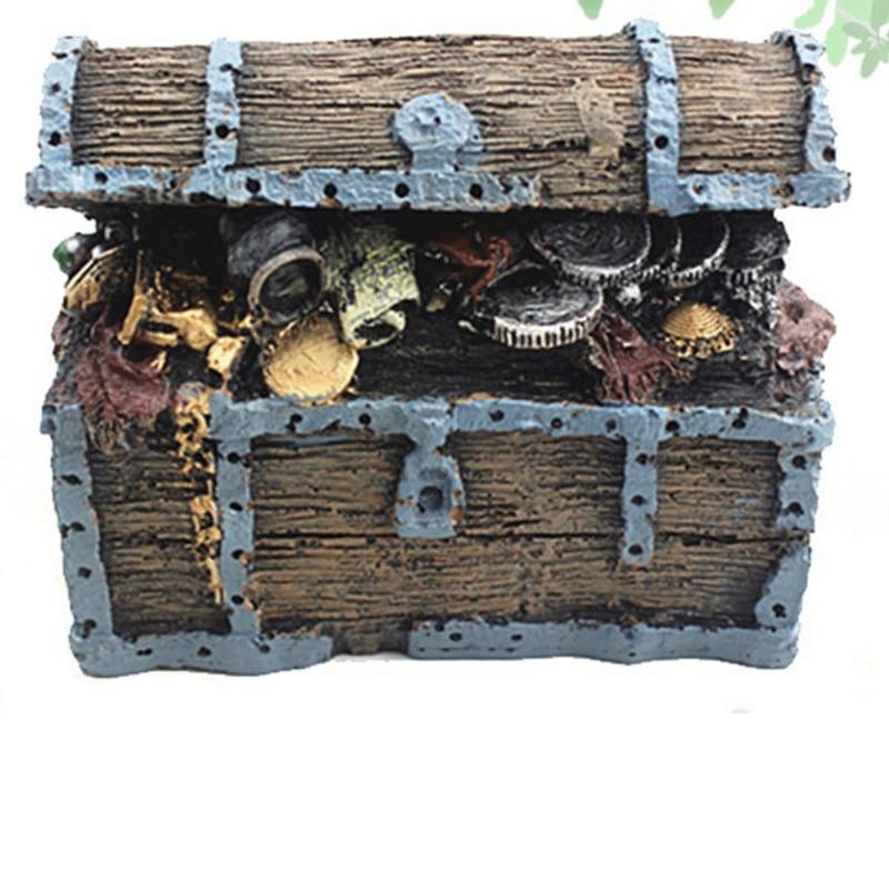 Decoración Para acuario, joyero para naufragio, decoración para acuario, decoración para taberna, decoración de resina para jardín, decoración verde