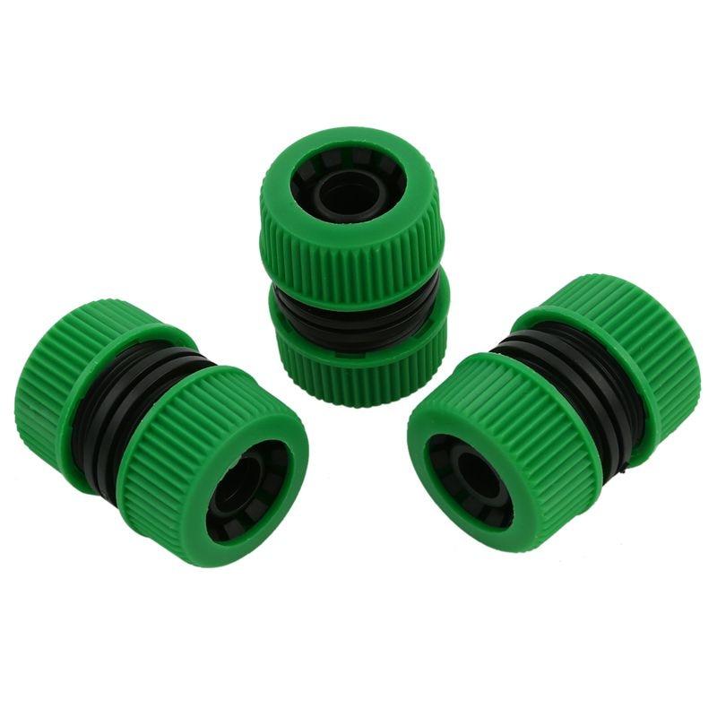 10x Conector de tubo de manguera 1/2 pulgadas jardín Joiner Mender extender reparación adaptador verde