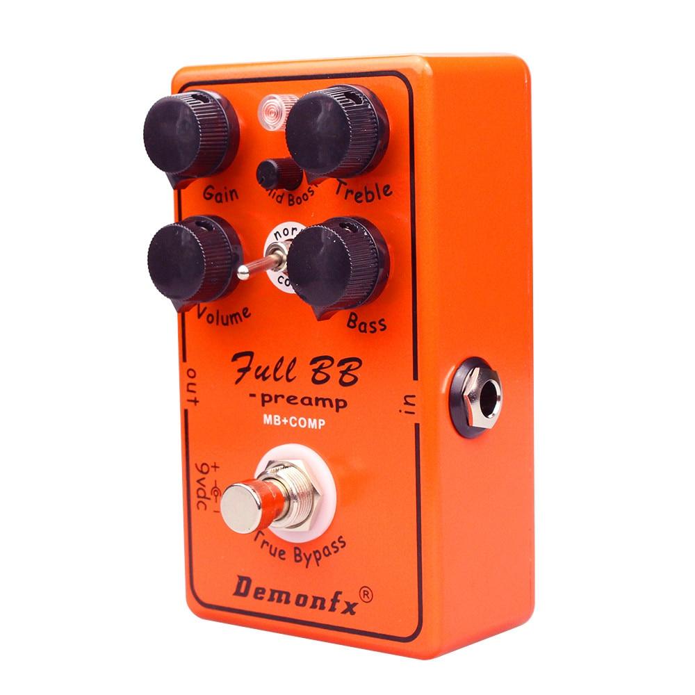 جودة عالية BB Peamp MB + COMP تأثير الغيتار دواسة Preamp Overdrive ضاغط دواسة Demonfx