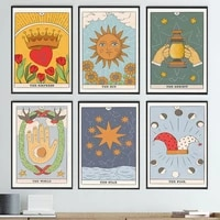 the lovers sun star empress tarot abstract wall art canvas painting nordic posters and prints wall picture for living room decor