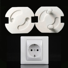 5pcs EU Power Socket Cover Electrical Outlet Baby Kids Child Safety Guard Anti Electric Shock Plugs
