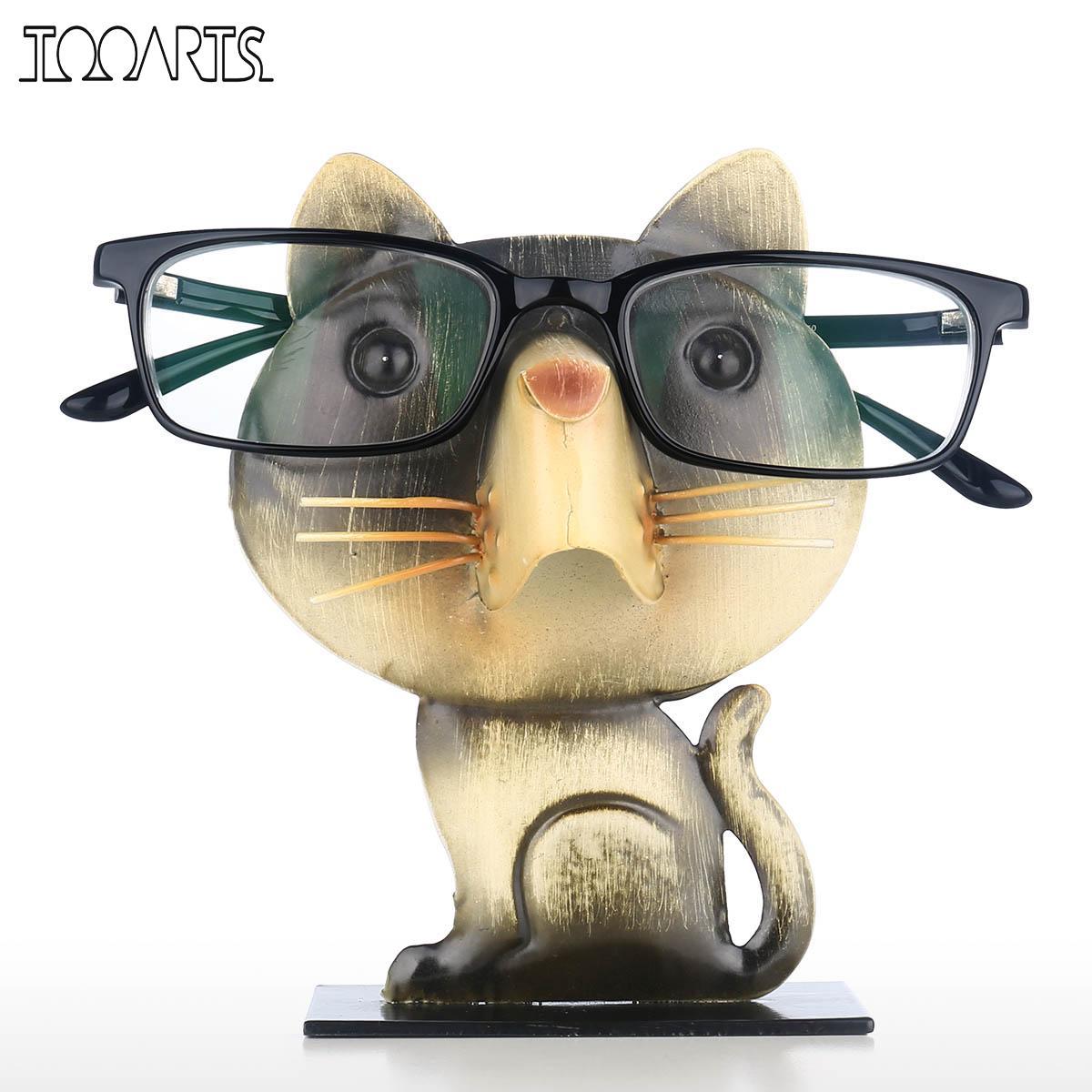 Статуэтка животного в форме кота стойка для очков очки держатель для очков в форме животного демонстрационная подставка для очков винтажный домашний декор