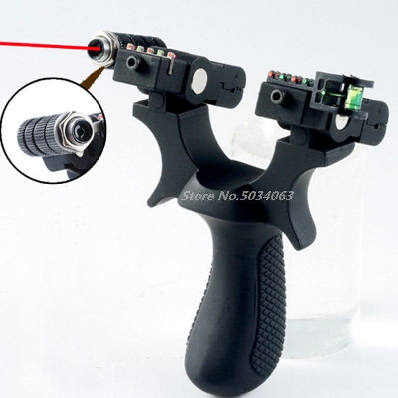 Neue harz schleuder katapult leistungsfähige laser mit dem ziel punkt mit gummiband outdoor jagd schuss