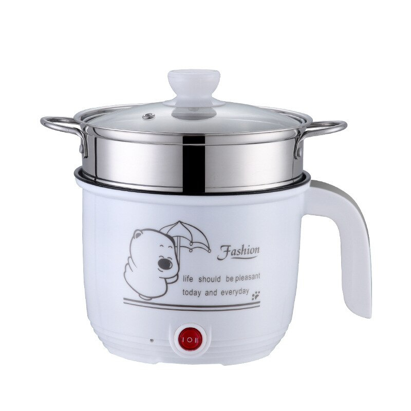 Mini máquina de Cocina eléctrica arrocera de 220V, olla caliente individual de doble capa disponible, olla arrocera eléctrica múltiple de 1.8L