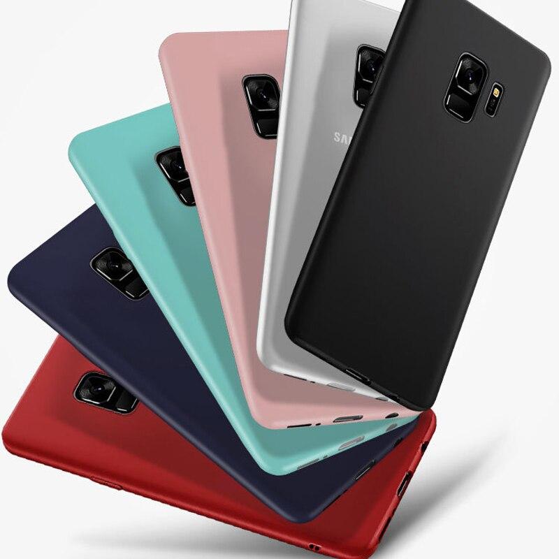 Por Honor 6C Pro 8 Lite 9 9 Lite 10 caso de TPU suave de Color caramelo para Huawei Y3 Y5 2017 Y5 Y7 Y9 2018 disfruta de 6 6S 7 Plus P cubierta inteligente