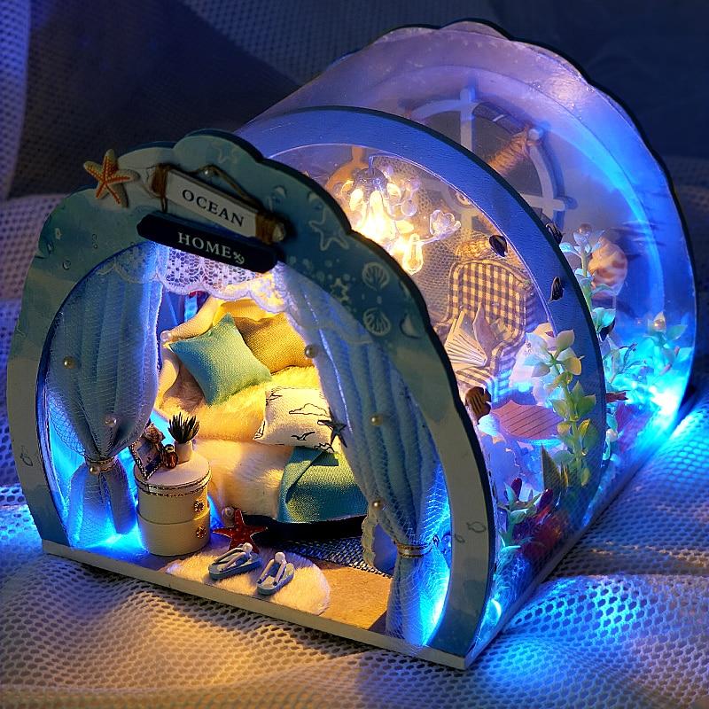 Casa de muñecas en miniatura para niños y adultos, Casa de muñecas...