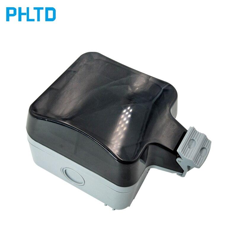 Enchufe Caja impermeable al aire libre a prueba de lluvia baño cocina impermeable toma al aire libre cubierta completa Caja impermeable