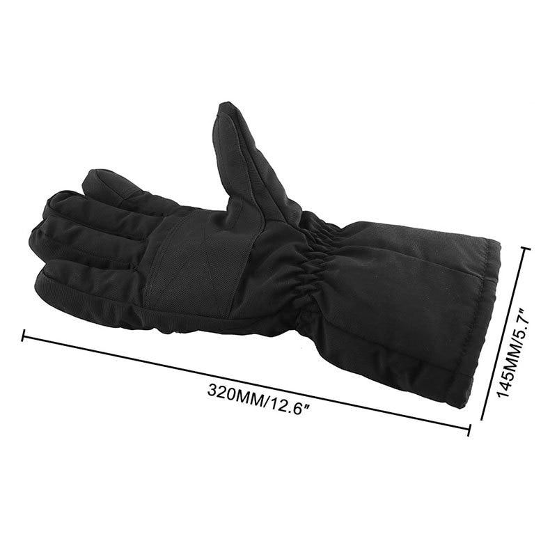 Motorbike Motorcycle Heated Gloves Winter Warm Battery Electric Waterproof enlarge