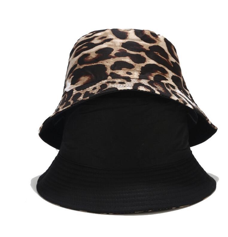 Sombrero Reversible del cubo del leopardo de los dos lados 2020 para los hombres mujeres sombrero atractivo del pescador sombrero del panama bob gorra de moda de la primavera del verano