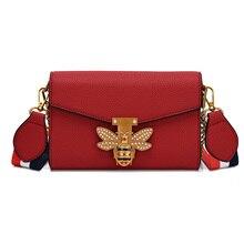 Nouvelles marques Designer femmes sac à bandoulière chaîne sangle rabat dames sacs à main en cuir Messenger sac pochette pour femmes sac abeille boucle sac à main