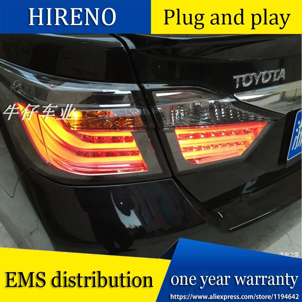 Diseño de coche para Toyota Camry luces traseras 2012 2013 2014 Camry V50 LED luz trasera Aurion lámpara trasera DRL + freno + Parque + señal