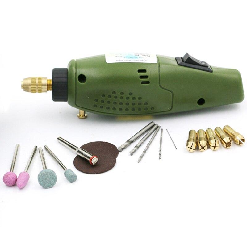 Mini taladro de Molinillo Eléctrico superior para el juego de molienda dremel 12V CC accesorios dremel herramienta para el fresado de perforación En pulido