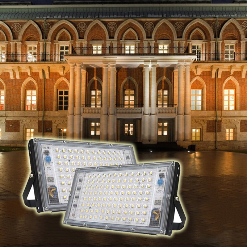 100W Led Flood Light Outdoor Lighting AC 220V 240V Floodlight Spotlight IP65 Waterproof LED Street Lamp Landscape Lighting