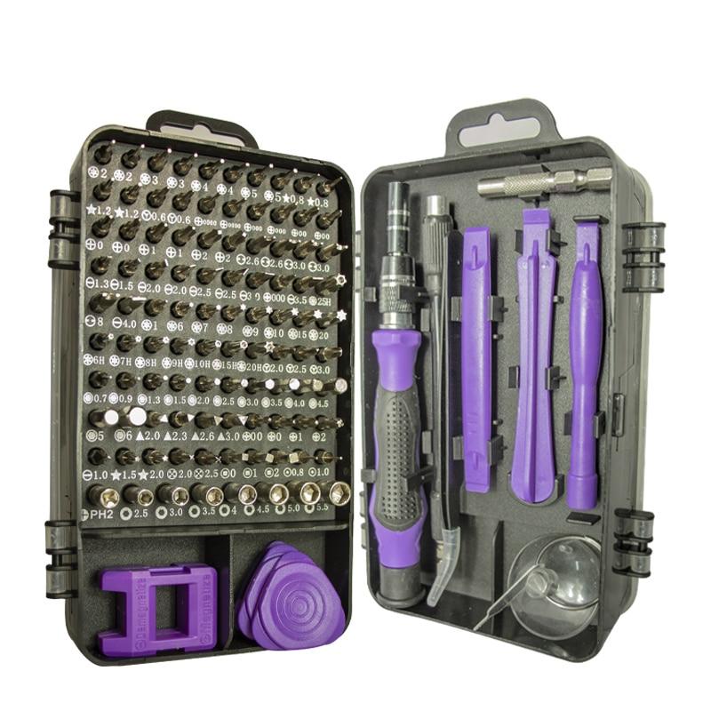 Набор отверток 115 в 1, магнитные насадки для ремонта телефонов, прецизионные шестигранные отвертки Torx, ручные инструменты