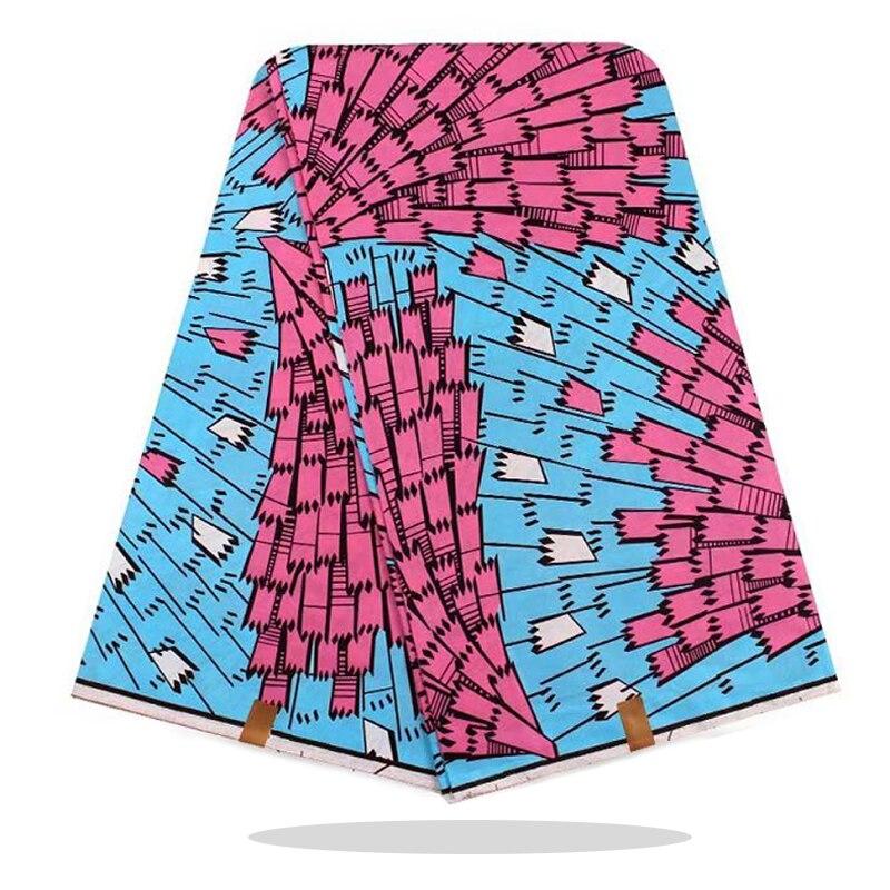 Ankara Wax Block Printed Fabric Cotton 100%High Quality Veritable African Wax Dye Prints Fabric 6 Yards For Party Dress RV09-40