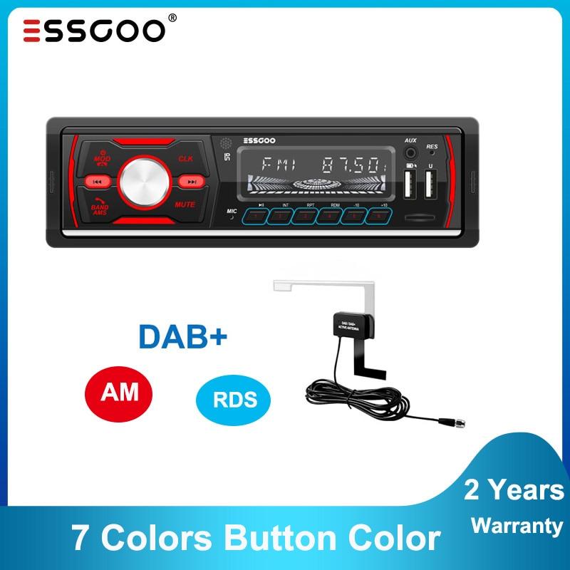 Essgoo Dab Rds Am Autoradio 1 Din MP3 Speler Bluetooth 1Din Autoradio Fm Ontvanger Usb Audio Stereo Auto Radio spanje Verzending