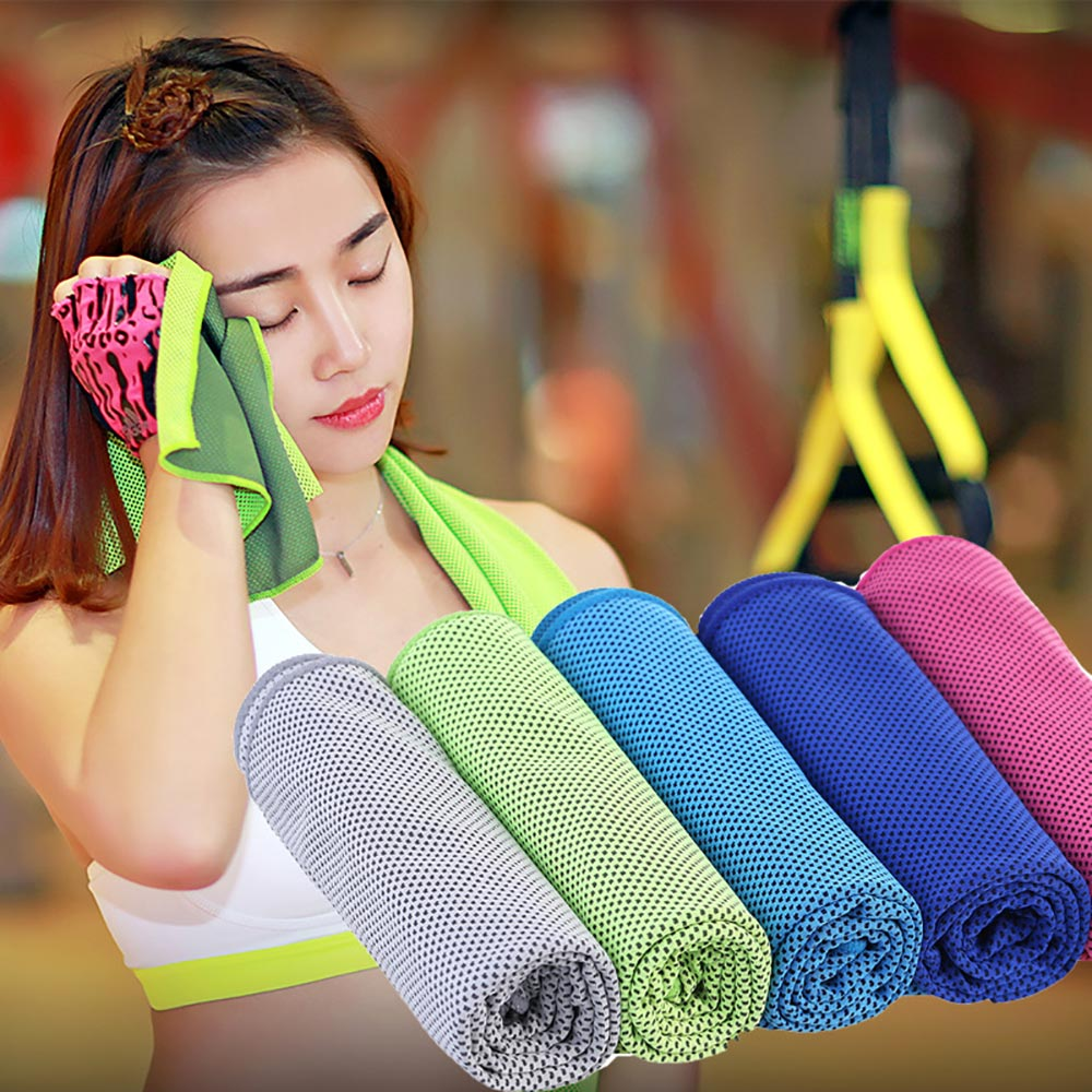 Cooling Towel Physical Cooling Towel Utility Enduring Microfiber Fabric Instant Cool Quick-Dry Reusable Chill Face Ice Towel multicolor sports face towel cooling ice utility enduring instant cozy ice cold for enduring running jogging gym