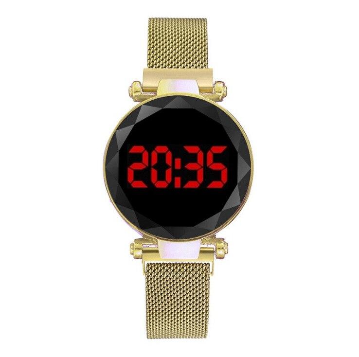 100 قطعة/الحزمة ساعة اليد السيدات LED الرقمية المغناطيسي ووتش الساخن بيع ساعة اليد الجمال السيدات ووتش مصنع الجملة ساعة
