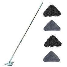 Mop pulito triangolare rotante regolabile con impugnatura telescopica multifunzionale con panno di ricambio per ricariche per pavimento auto