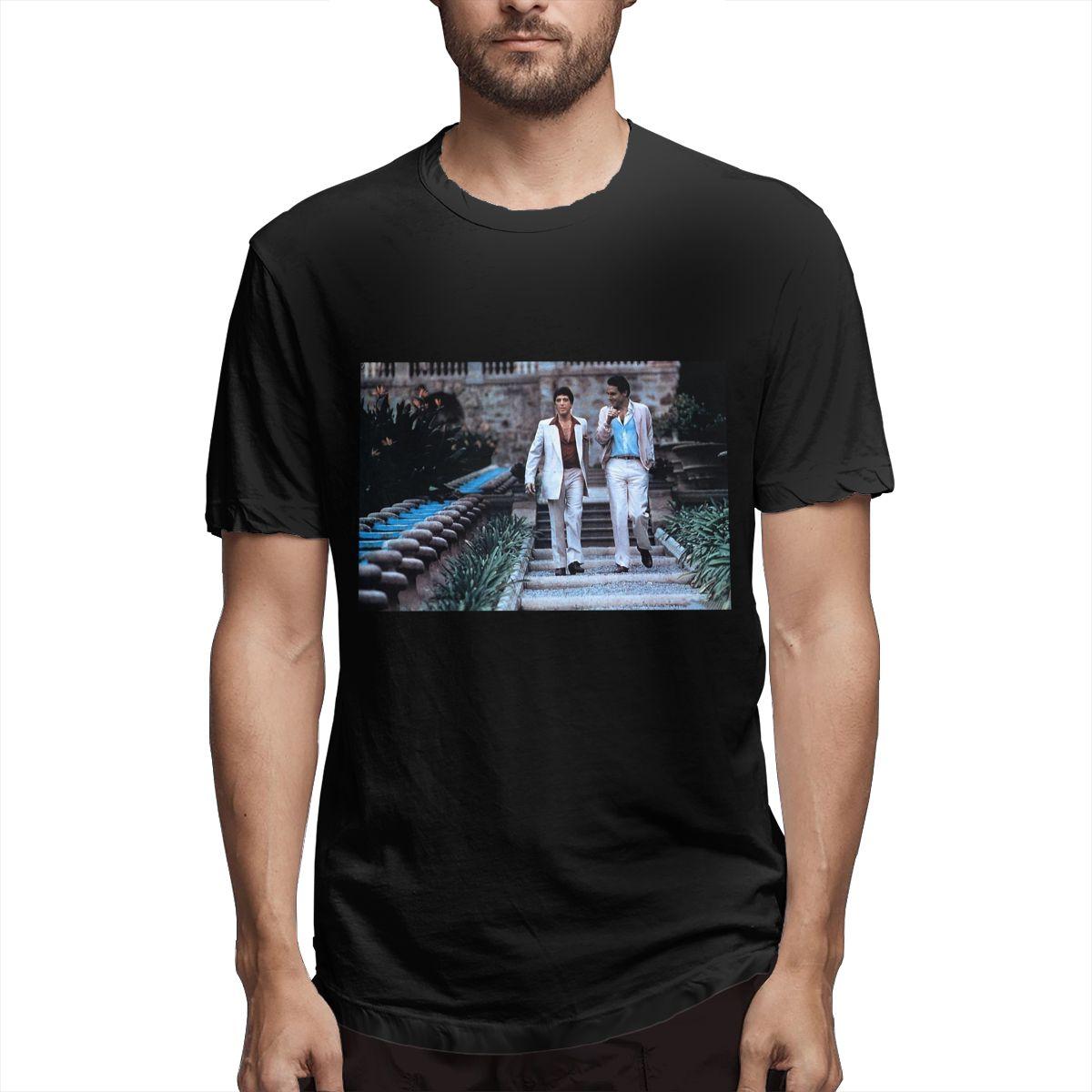 Camiseta de algodón para hombre, camisa de manga corta con cuello redondo,...