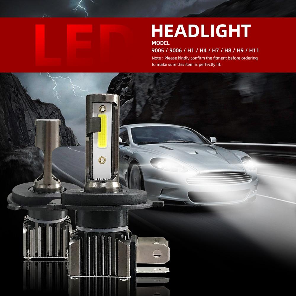 2 uds., MiNi tamaño H7 Canbus H11 H4, faro LED, lámpara de diodo para Auto luces de carrera, bombilla Led, luces antiniebla 9005 9006, luz Led, nuevo Coche