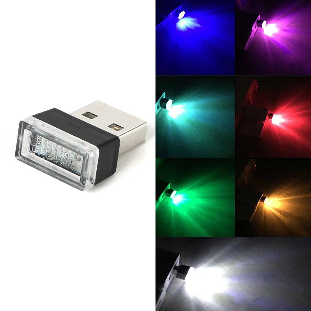 Minilámpara USB LED, accesorios para Interior de coche, luz de neón para modelado de Ambiente, Interior de vehículo