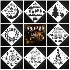 Layering Stencils Embossing Template Painting Scrapbooking Christmas DIY Decor