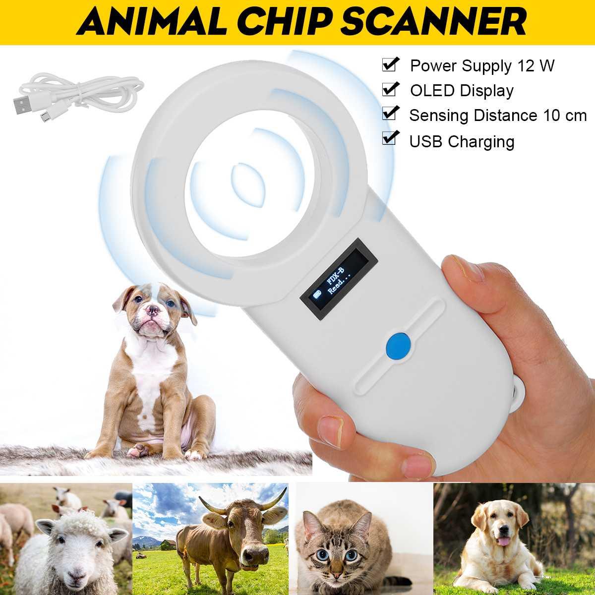 Lector de identificación de mascotas, Chip de Animal, escáner Digital, USB recargable, escáner de mano para Microchip, General para gato, perro, caballo