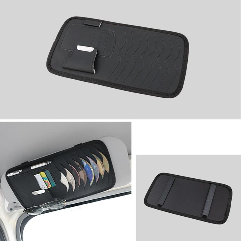 Автомобильный солнцезащитный козырек, зажим для очков, держатель для CD DVD-карты, держатель для хранения дисков, органайзер, зажим для сумки, ...