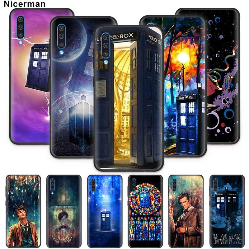 Doctor Who retro blue Case for Samsung Galaxy A01 A50 A70 A71 A51 A90 5G A80 A60 A40 A30 A20e A10 s Soft Phone Cover
