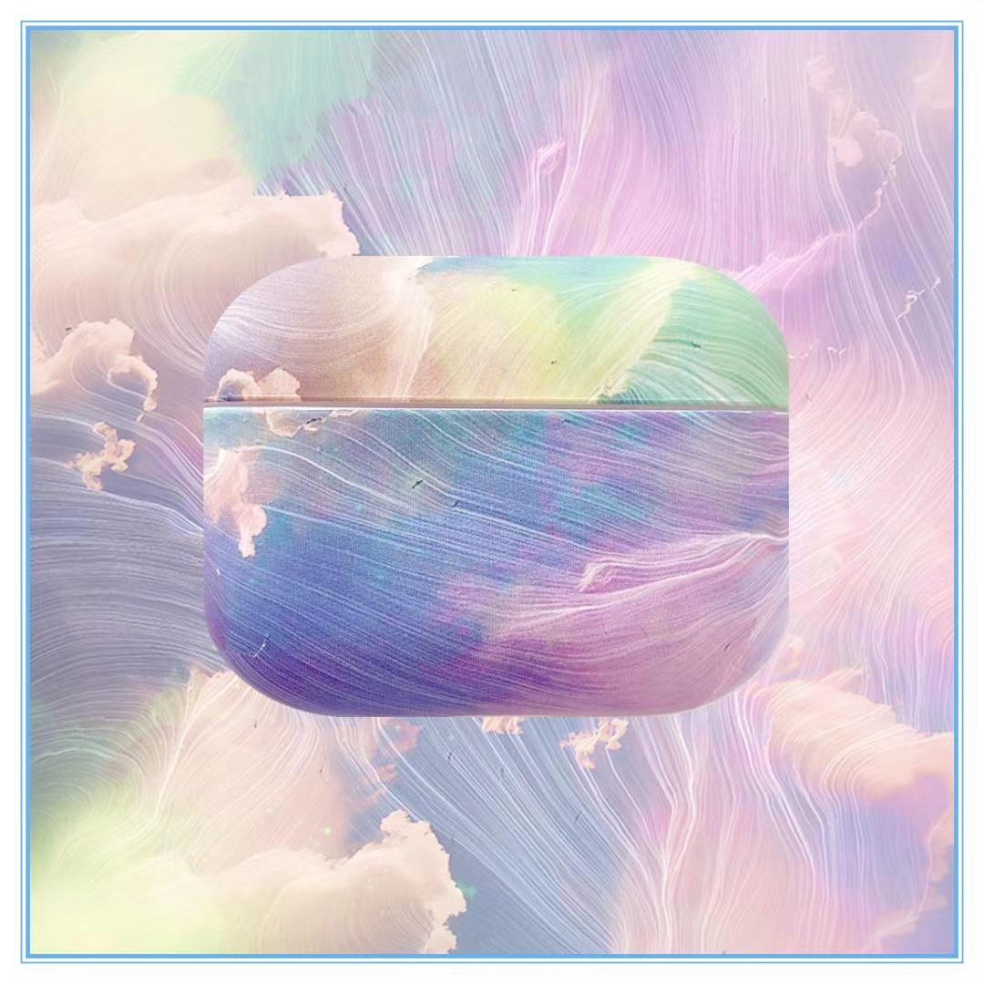 Funda de lujo de color para auriculares AirPods 3 pro, con cielo nocturno aurora en 3D, funda blanda de silicona para auriculares inalámbricos con bluetooth
