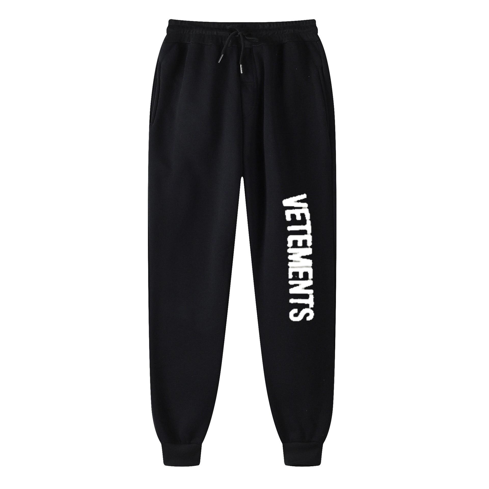Мужские спортивные штаны для бега черные Зимние флисовые брюки уличная одежда мужские и женские модные брюки свободные спортивные штаны 2021