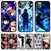 lovely anime phone case cover for iphone 12 pro max 11 8 7 6 s xr plus x xs se 2020 mini black cell shell