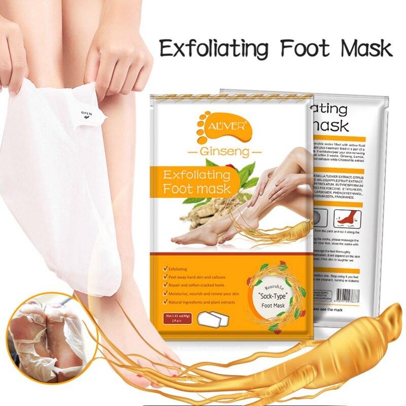 ALIVER Ginseng máscara de pie hidratante Anti-pelar eliminar el olor de la...