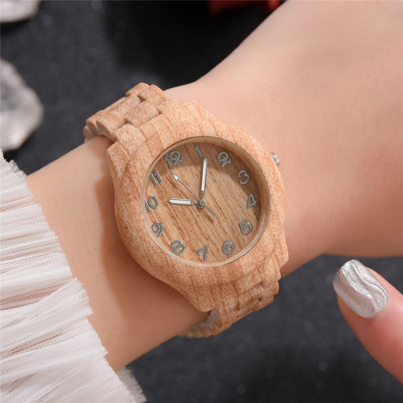 Reloj de madera de párr mujer de accesorio de marca de moda...
