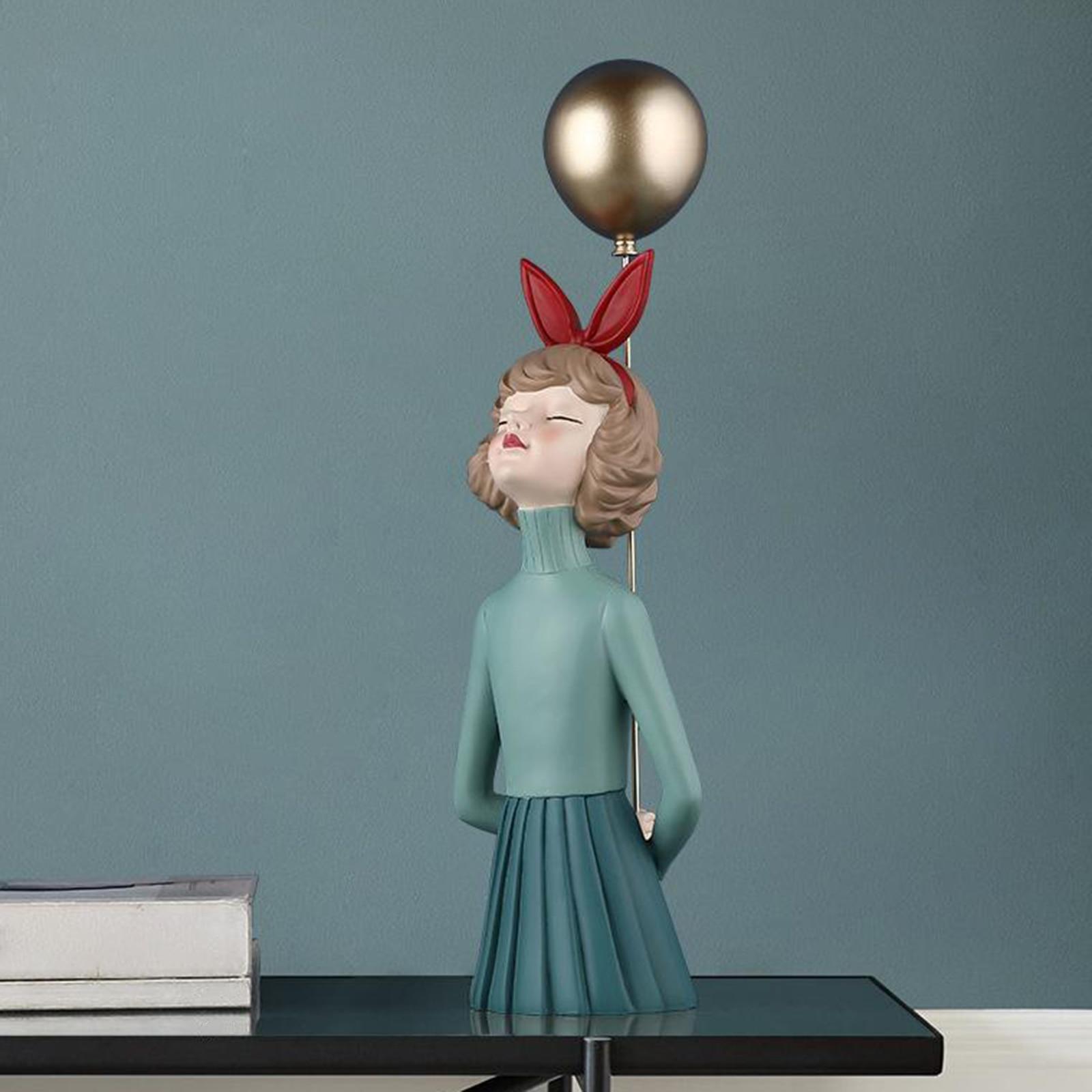 Decoração para Casa Resina Menina Moderna Estatueta Desktop Ornamento Prateleira Personagens Presente