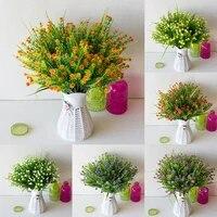 Bouquet de fleurs artificielles multicolores en plastique  fausses petites etoiles  decoration de mariage a domicile