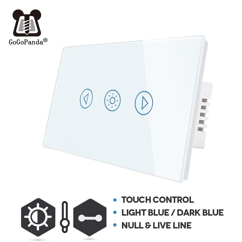 US Standard Touch Dimmer Switch 1 Gang Wall Light Adjust Light Waterproof Switch