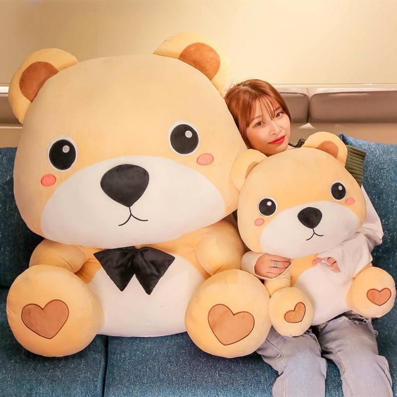 High Quality 50CM-80cm Bear With Scarf Stuffed Animals Bear Plush Toys Teddy Bear Doll Lovers Birthday Baby Gift