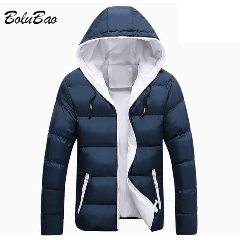 BOLUBAO, зимняя теплая парка с капюшоном, пальто для мужчин, новинка 2021, осенняя Толстая Водонепроницаемая парка, Мужская модная повседневная т...